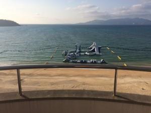 ホテルからの海